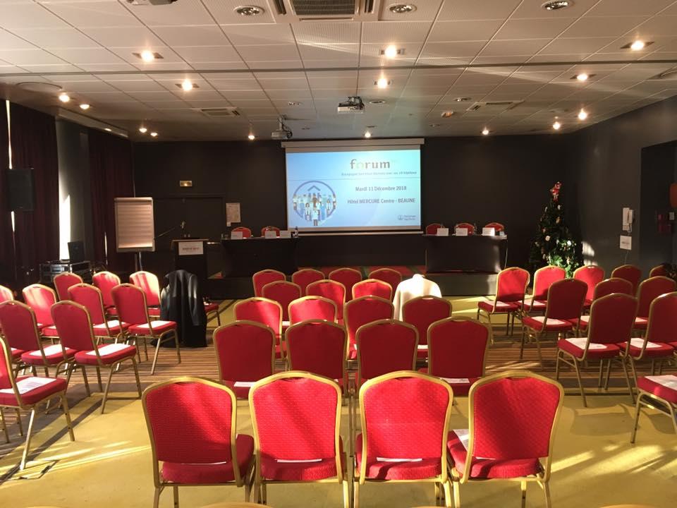 Sonorisation du Forum AVC à l'Hôtel Mercure -centre Beaune