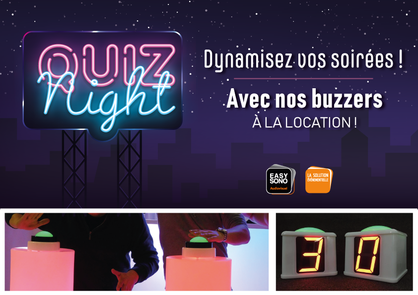 Location de buzzers !