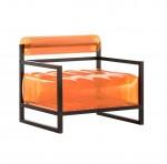 fauteuil gonflable orange