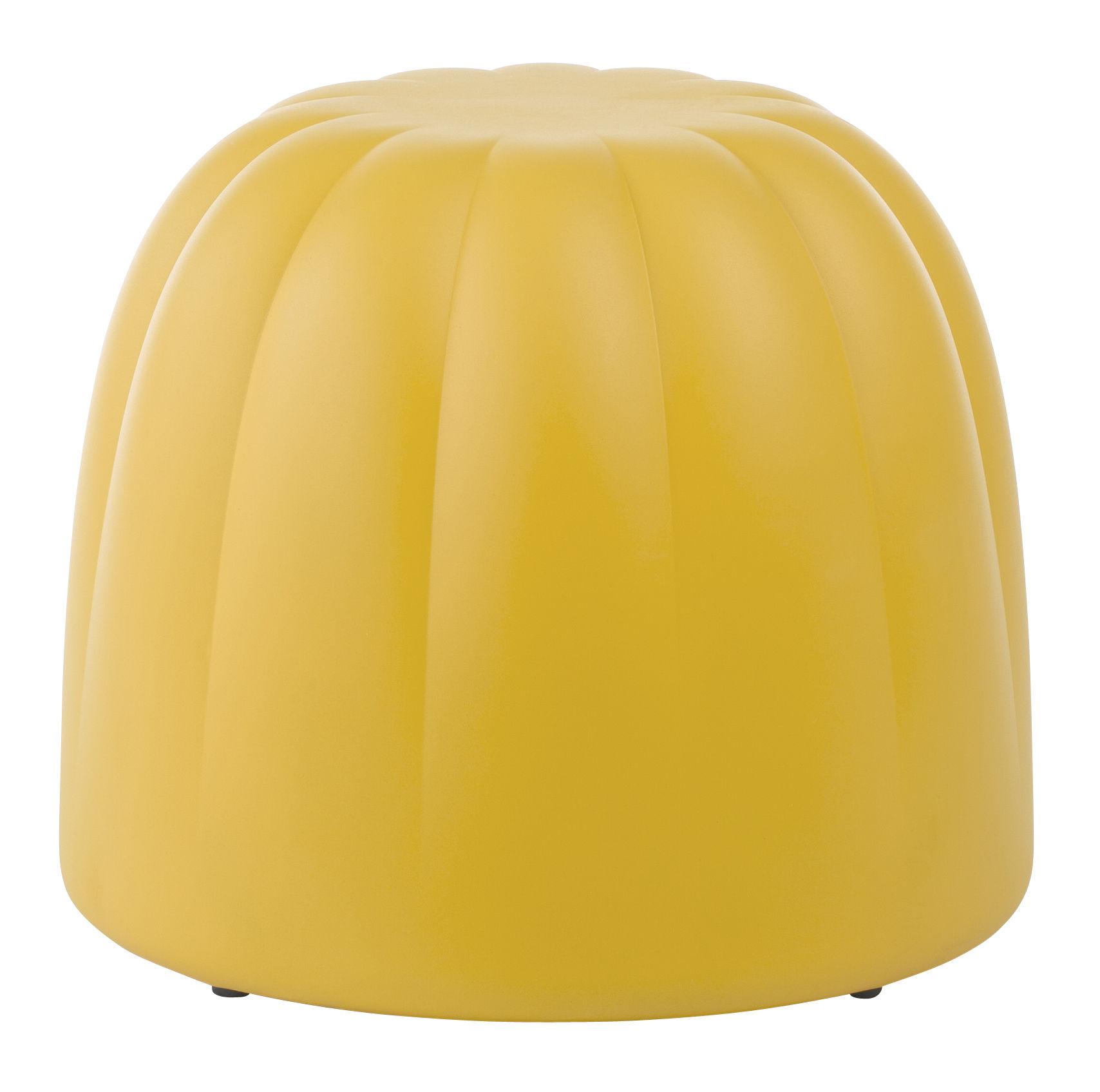 Pouf canelé (PM) jaune