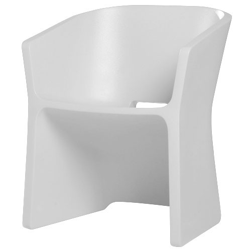 Fauteuil sliced blanc